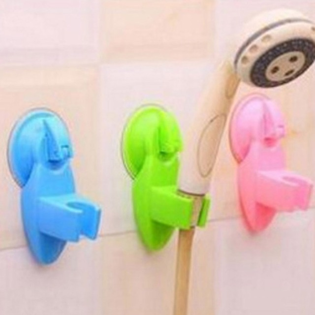 1 Pc Strong Sucker Shower Seat Stand Base Shower Head Silicone ...