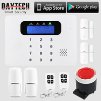 DAYTECH Wireless WiFi GSM SMS Alarm Home Security System APP Control LCD Touch Keyboard with PIR Detector Sensor Remote control