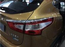 Stile luminoso! Accessori Per Nissan Qashqai J11 2014 2015 2016 ABS Chrome Lampada di Coda Posteriore Sopracciglio Copertura Trim
