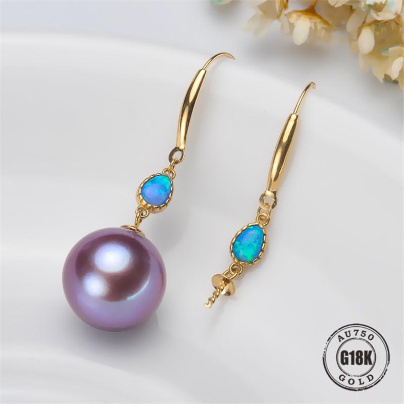 G18K Gioielli In Oro, AU750, Orecchini di Perle Accessori, Gancio per L'orecchio, Per Le Donne, Risultati Dei Monili, FAI DA TE