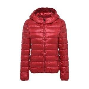 Image 5 - 5XL 6XL 7XL חורף נשים קל במיוחד ברווז למטה מעיל נשים ארוך שרוול מעילים חם סלעית מעיל Parka נקבה להאריך ימים יותר בתוספת גודל
