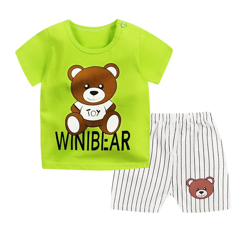Boys Clothes 2018 New Toddler Boy Clothing 100% Cotton Children Summer Girls Clothes Cartoon Kids Boy Clothing Set T-shit+Pants