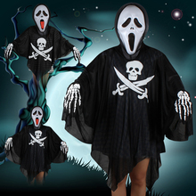 Halloween Family Costume Haunted House Zombie Death Horror Clothes Female Ghost Male Masquerade Kids Party cosplay