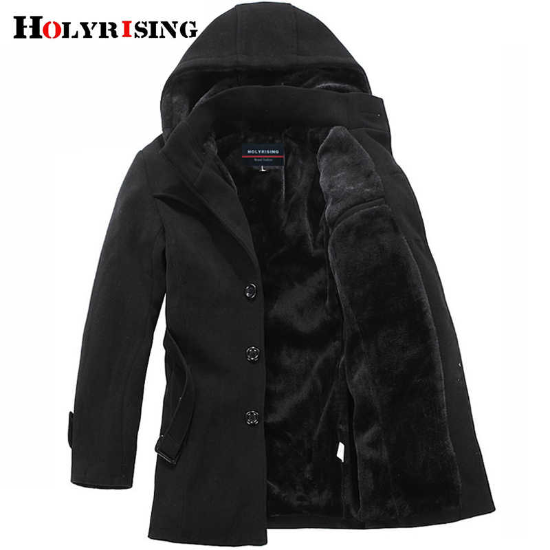 Holyrising winter jacket men thicken coat weight 1.5kg-2.2kg fashion mens jackets and coat men's outerwear winter coat #1300041