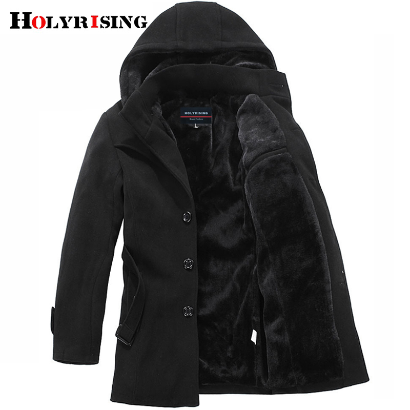 Holyrising Winter Jacket Males Thicken Coat Weight 1.5Kg-2.2Kg Style Mens Jackets And Coat Males's Outerwear Winter Coat #1300041