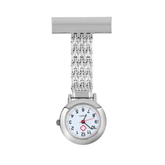 OUTAD Nurse Pocket Watch Stainless Steel Arabic Numerals Quartz Brooch Doctor Nu