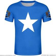 SOMÁLIA camiseta livre diy foto feita sob encomenda nome número de som T Shirt da bandeira da nação soomaaliya república federal somali roupas impressão texto