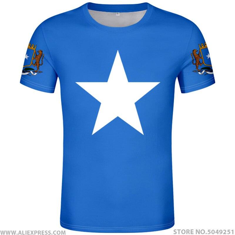 SOMALIA T Shirt Diy Free Custom Photo Name Number Som T-Shirt Nation Flag Soomaaliya Federal Republic Somali Print Text Clothing
