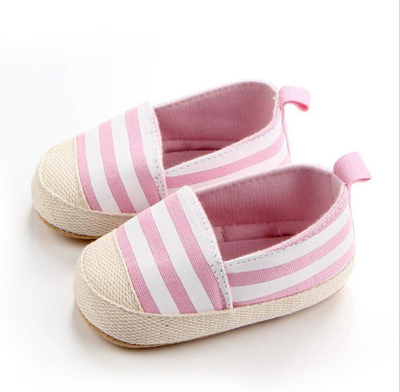 Classic tri-color striped baby shoes, baby toddler shoes 0-1 years old