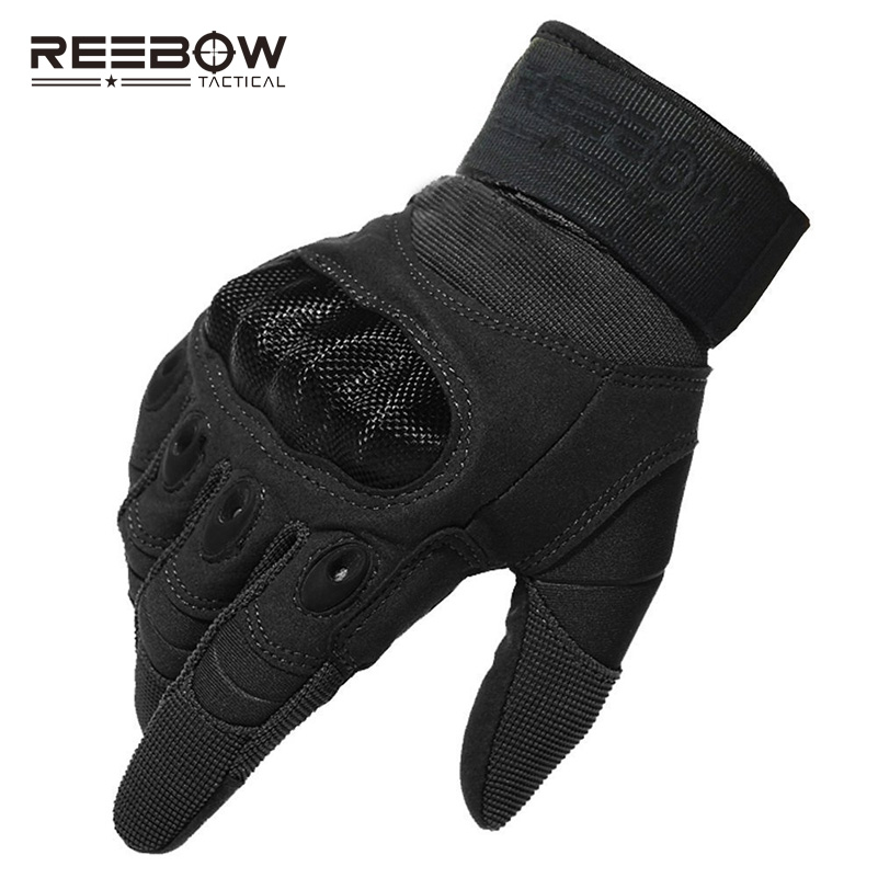 Reebow Tactical Military Outdoor Hard Knuckle Gloves Full Finger Motorcycle Gloves Army Gear Sport Shooting Paintball Hunting