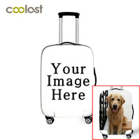 Customize Your Image On Suitcase Cover Women Travel Luggage Suitcase Protector for Boys Girls Animal Durable Protective Cover