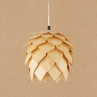 Лофт природа дерево тени светодио дный подвесной светильник E27 светодио дный 220 В подвесные светильники приспособление для кабинета Рестор