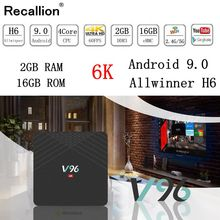 Original RECALLION V96 TV Box S 6K HDR Android TV 9.0 Ultra HD 2G 16G WIFI Google Cast Netflix IPTV Set top Box 4 Media Player