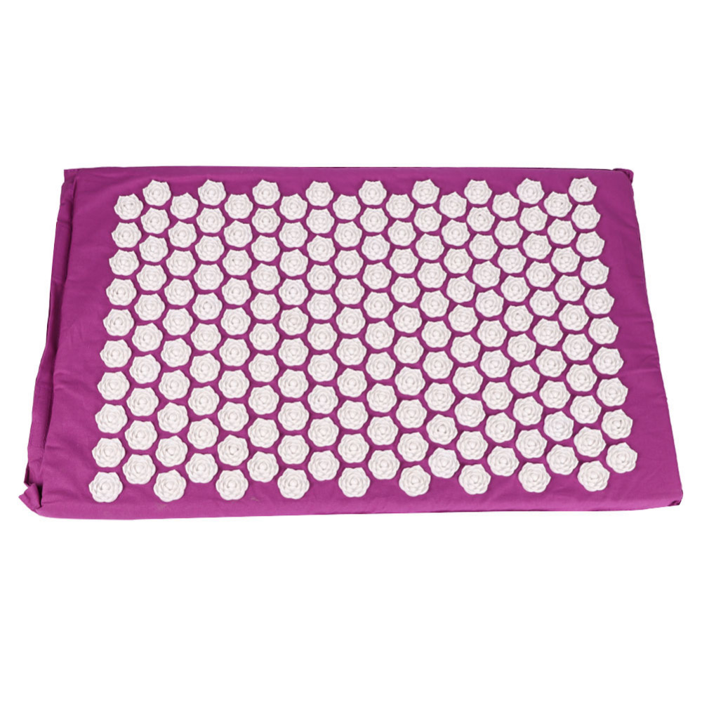 Yoga Mat Lotus Acupuncture Massage Pad Needle Prick Acupoint Massager Pillow Foot for Neck Head Pain Relief Muscle Stress chic quality flamingo and lotus pattern flax pillow case(without pillow inner)