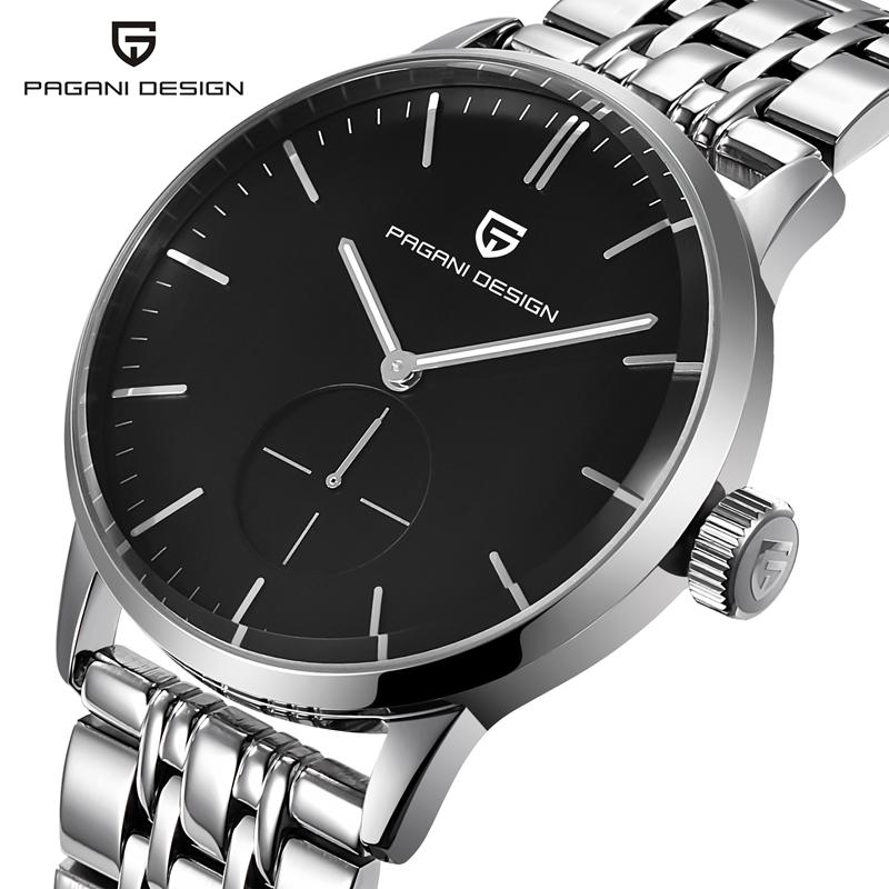 PAGANI Original Men Quartz Watch Reloj Hombre Stainless Steel Business Watches Man Clock  Army Military Watch Sport for Male migeer fashion man stainless steel analog quartz wrist watch men sports watches reloj de hombre 2017 20 gift