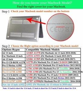 Image 5 - 2018 حافظة لجهاز ماك بوك اير برو ريتينا 11 12 13 15 حافظة لجهاز ماك بوك برو 13 15 مع شريط لمس A1706 A1707 A1708