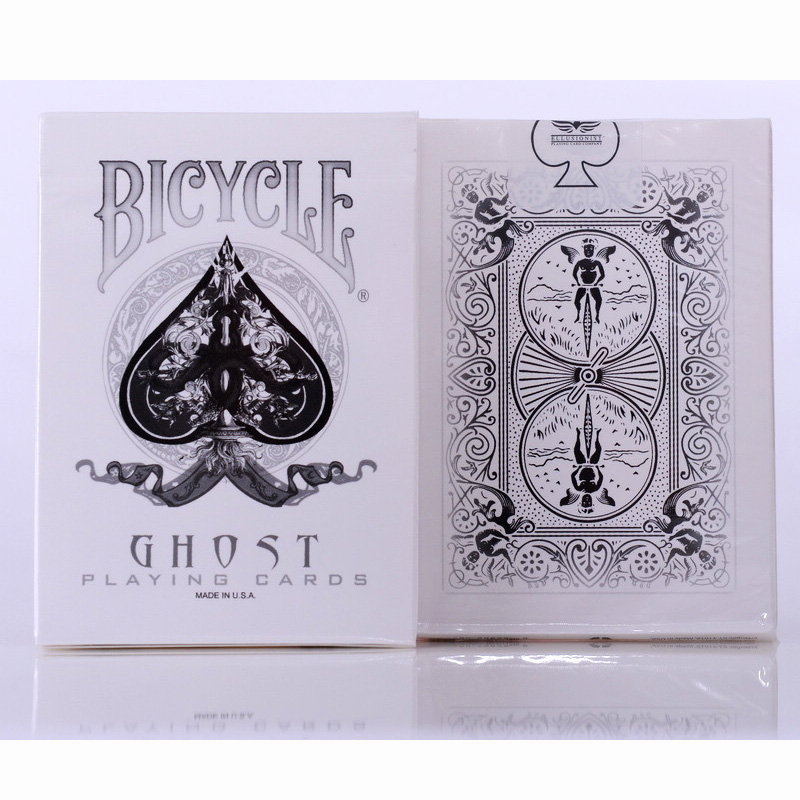 Ellusionist Bicycle Ghost Deck White Playing Cards 88*63mm M