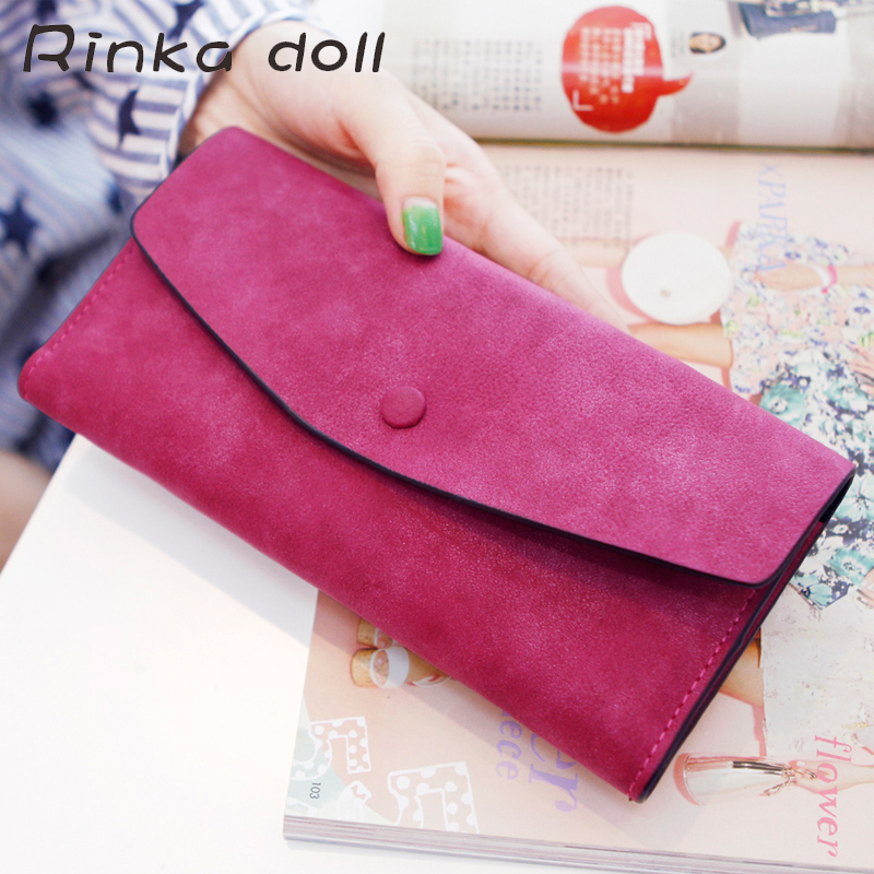 Rinka doll Hot Fashion Women Wallets 7 Colors Matte Patent Leather Hasp Soft Wallet Ladies Long Coin Purse Card Holder #Q283