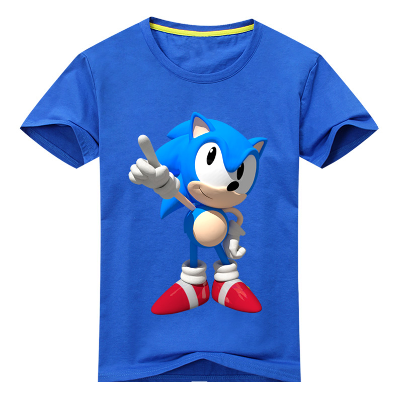 Boys Girls T-shirt Print Sonic The Hedgehog Children Tops Tees Kids O-neck Short Sleeve Summer Clothes For Toddler T Shirt