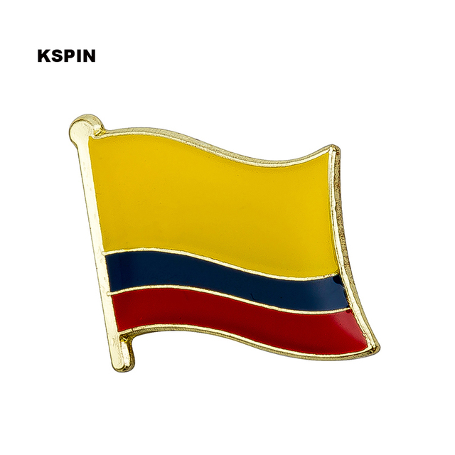 Lovely Colombia Metal Flag Lapel Pin Badges For Clothes In Patches Rozety  Papierowe Icon Backpack