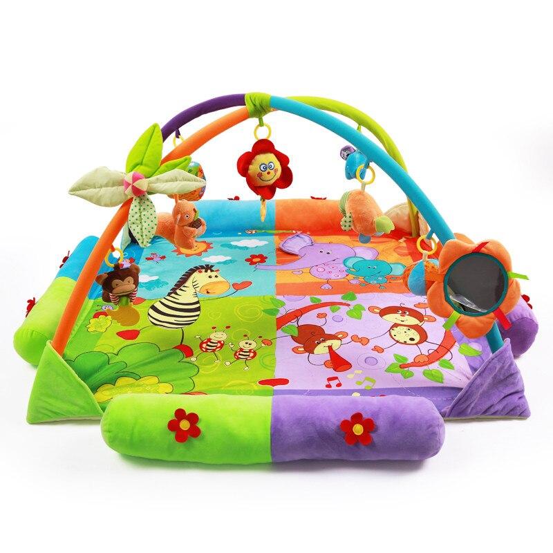 Bébé parcs jeu clôture ramper garde-corps sécurité haies enfants réel coton jeu garde bébé miroir jouets bébé jouets 0 12 mois