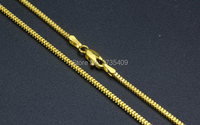 Authentic Italy design Solid Yellow gold Necklace Chain Men's Chain