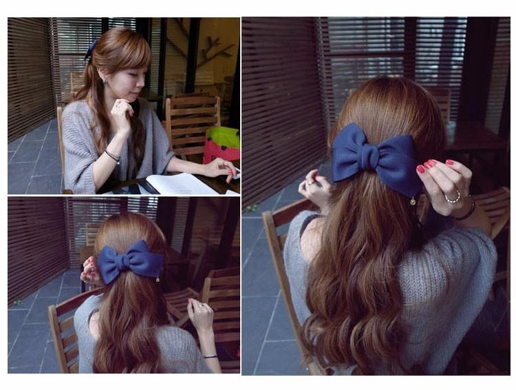 HTB18AcFOFXXXXa3apXXq6xXFXXX3 Pretty Solid Cloth Big Bow Hair Clip For Women - 7 Colors