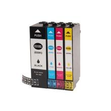 Vilaxh T35 T35XL Ink Cartridge For Epson T3591 T3581 WorkForce Pro WF-4740DTWF 4730DTW 4720DW 4725DW Printer vilaxh t3591 t3581 refillable ink cartridge for epson t35 t35xl workforce pro wf 4770 wf 4720 wf 4725 printer without chip