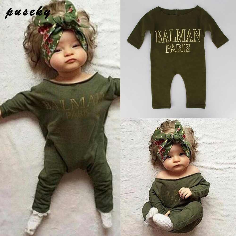 8d8b6aa0b8ae Newborn Infant Baby Boys Girl Kids Clothes Cotton Rompers Jumpsuit Long  Sleeve Balman Paris Clothing Outfit