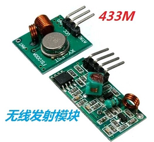 Free shiping Best prices 50 pair 100pcs 433Mhz RF transmitter and receiver link kit D01