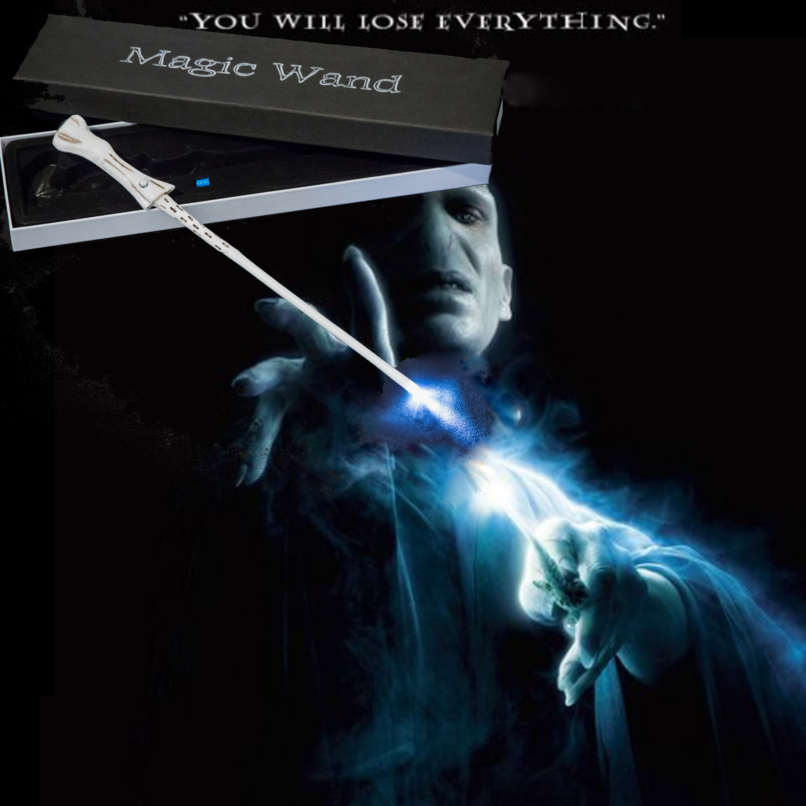 Action HP Harri Wands Toys 36 CM Glowing Metal Magic Wand Hogwart Popular Gifts With Gift Box Cosplay Real Magic Effects Kid Toy