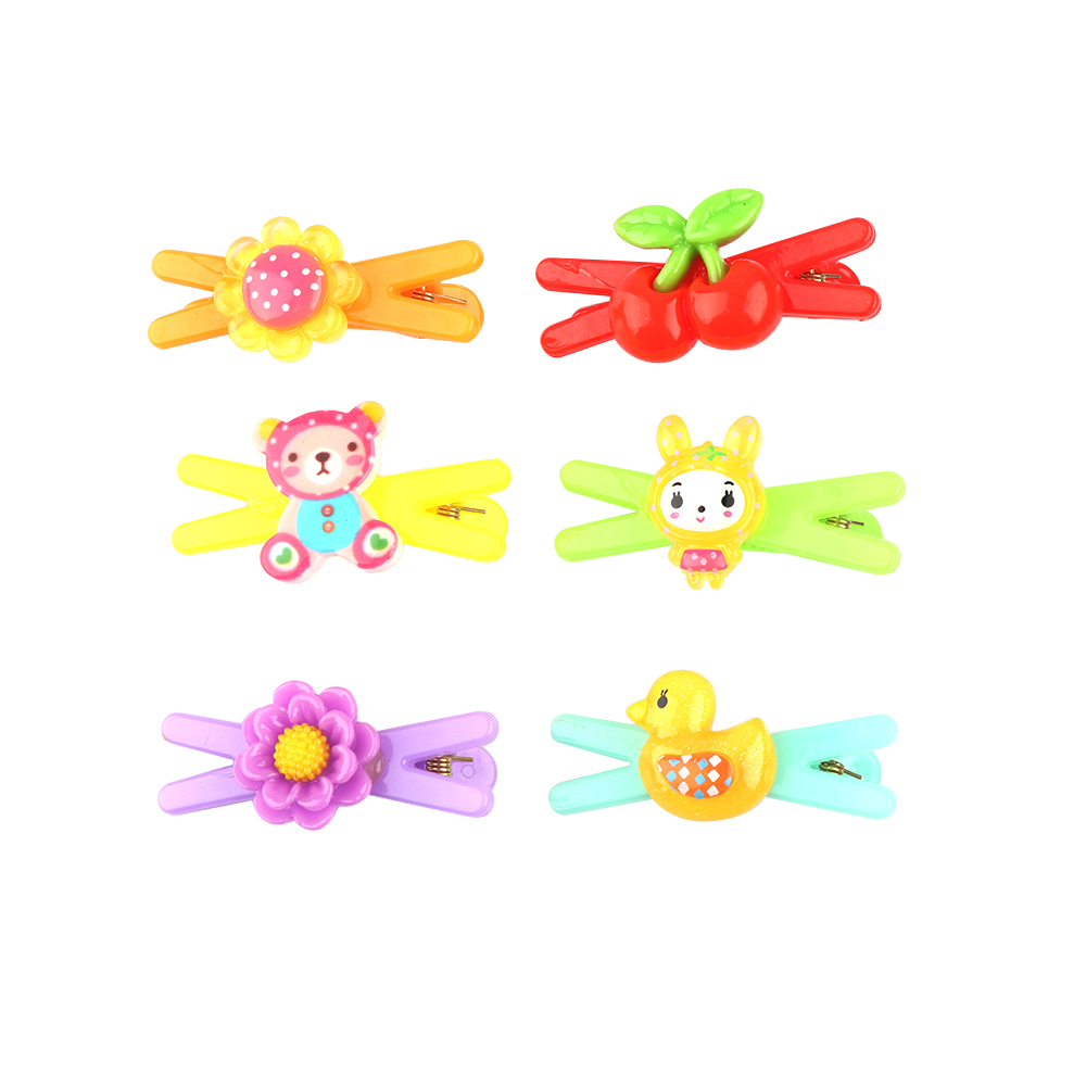 HTB18AcjRVXXXXcWXXXXq6xXFXXXT 12-Pieces Mix Colorful Fruit Flower Star Animal Fish Ribbon Heart Candy Hair Accessories For Girls