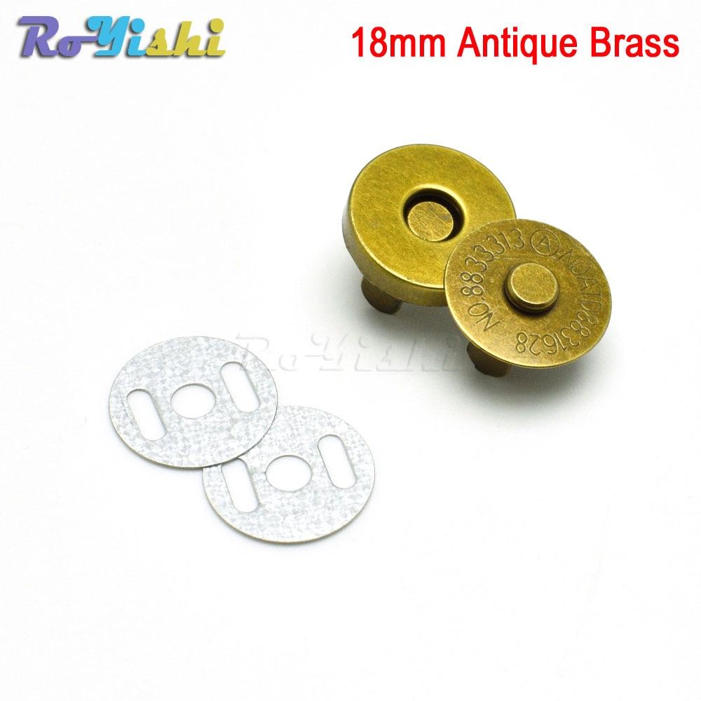 18mm Antique Brass