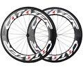 Новые 700C колеса из углеродного волокна  шоссейные велосипедные колеса  легкие Углеродные дорожные колеса  V тормоза 25x88 мм  трубчатые полнос...