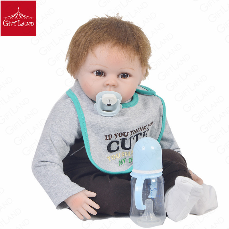 Reborn Baby Doll Handmade Cute Baby Doll Big Brown Eyes Baby