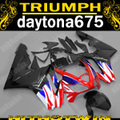 Injection molded ABS plastic fairing kit for Triumph daytona 675 red black blue fairings set daytona 675 NM19