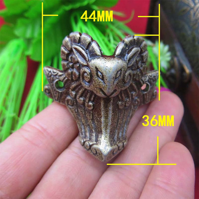 Antique bronze sheep head wooden jewelry gift box deocraitve corner brackets vintage care foot desk edge corner feet 44*36MM bronze color doctor who theme antique pocket watch with dr who symbols design glass dome pendant packing with gift box