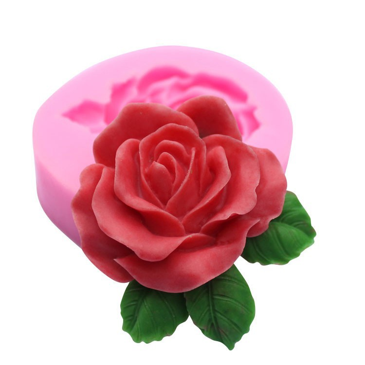 1 ცალი 3D კრეატიული ვარდისფერი ყვავილი სილიკონის მშვენიერი ფორმები საქორწილო ტორტის დეკორაციისთვის DIY სილიკონის საცხობი ფორმები საპნის MOLD FM117