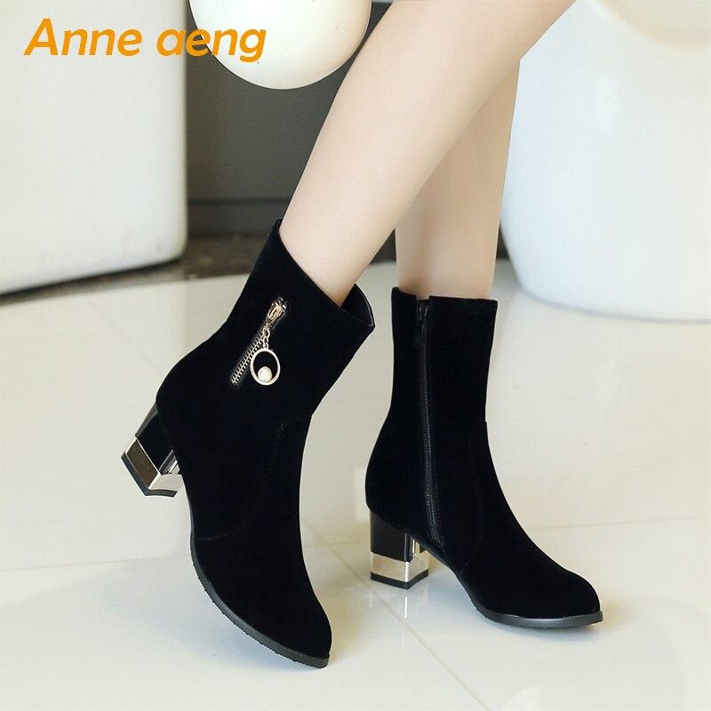 5 Quadrato Donne Neve Caviglia Stivali Formato Grande 5