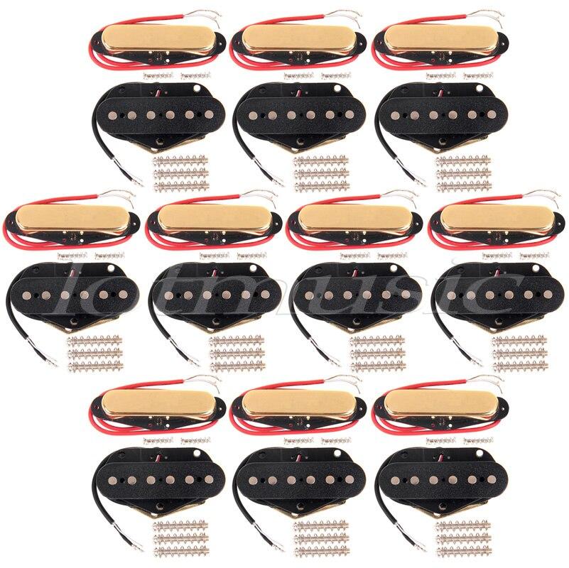 20 pièces À Simple Bobinage Guitare Cou et Micro Chevalet Pour Fender Tele remplacement