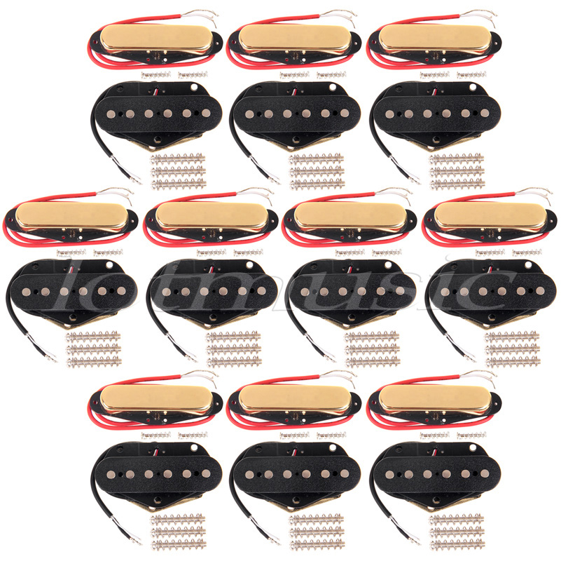 20Pcs Single Coil Guitar Pickup Neck and Bridge Pickup For Fender Tele replacement single coil pickup cover 1 volume 2 tone knobs switch tip for strat guitar replacement ivory 10 set