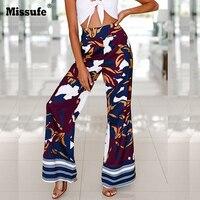 Camouflage Women Trousers Bohemian Casual Loose Wide Leg Pants Fashion Streetwear Feminino Women Summer Beach Pants 2018