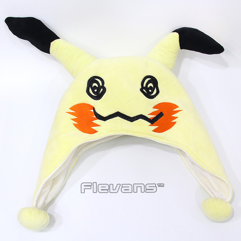 100% Quality Anime Monster Mimikyu Cosplay Adult Cartoon Plush Hat Toy Soft Stuffed Doll Good Taste
