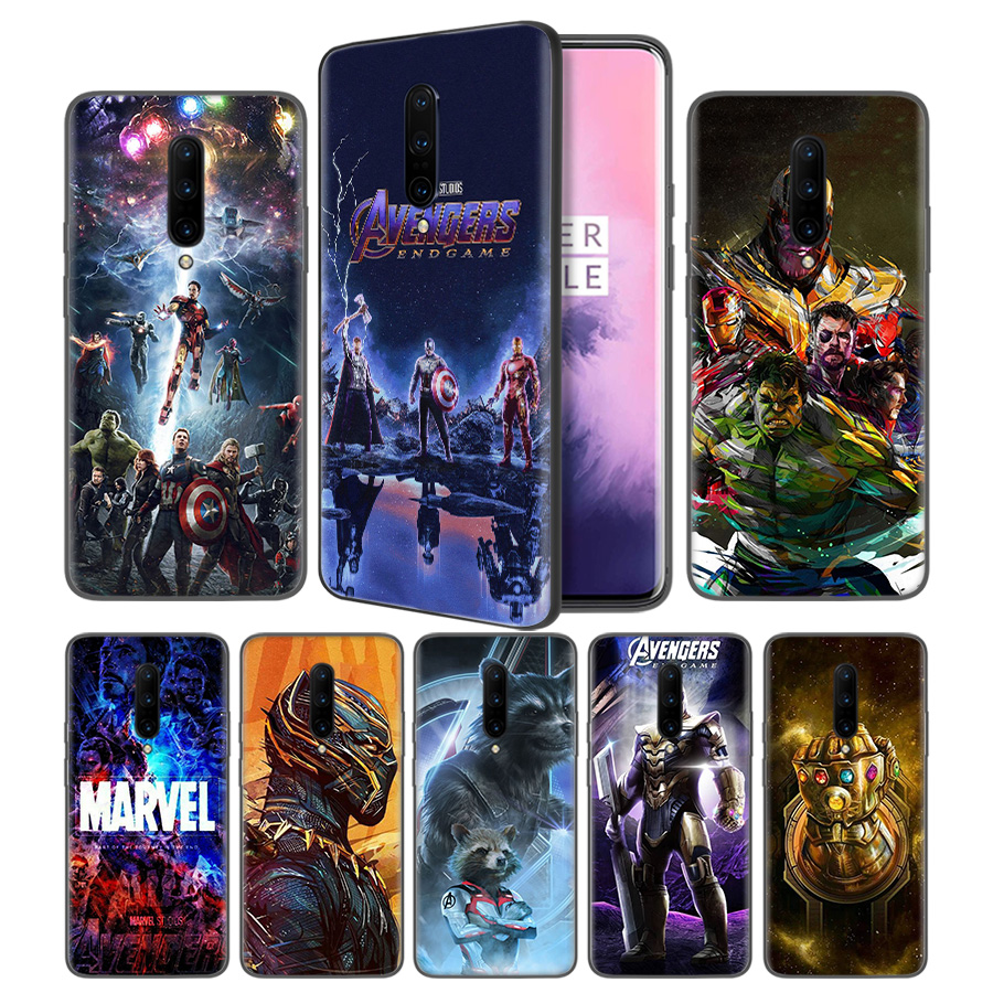 Avengers Marvel Endgame Thanos Soft Black Silicone Case Cover for font b OnePlus b font 6