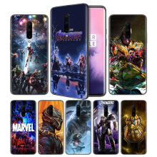 Avengers Marvel Endgame Thanos Soft Black Silicone Case Cover for OnePlus 6 6T 7 Pro 5G Ultra-thin TPU Phone Back Protective
