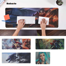 Babaite Boy Gift Pad League of Legends Natural Rubber Gaming mousepad Desk Mat Free Shipping Large Mouse Keyboards
