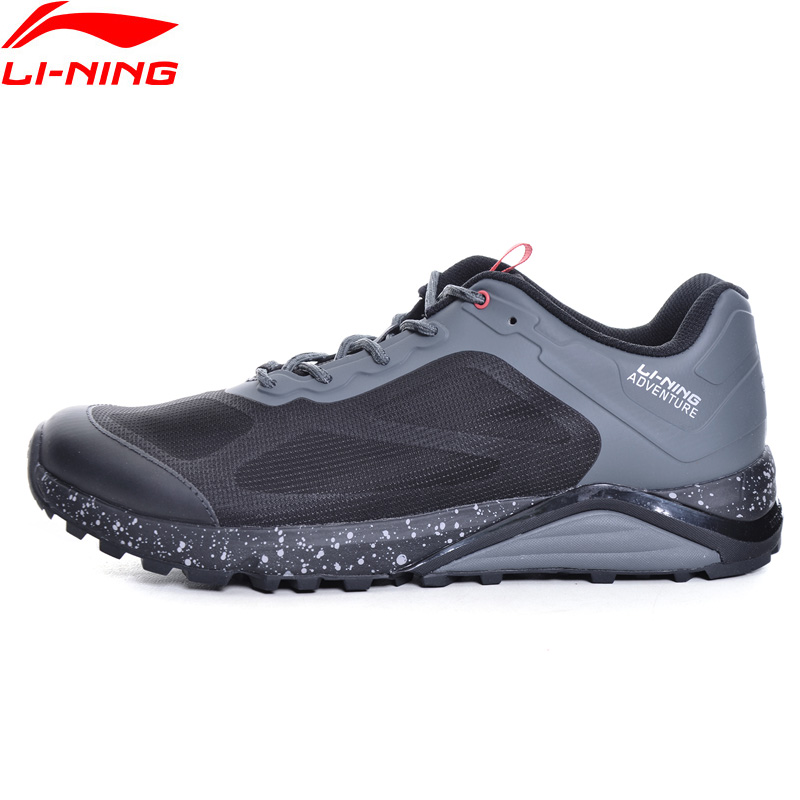 Li-Ning Men Shoes Revenant ITF Trail Running Shoes Outdoor Sneakers Cushion Anti-Slippery Li Ning Adventure Sports Shoes ARDM009