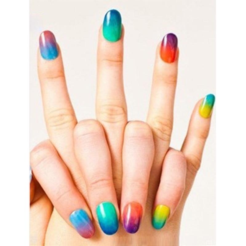 10pcs gradient nails soft sponges