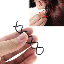 2016 Beautiful Metal Plate Made Hairdressing Spiral Rotating Salon Hairpin Bobby Pin(China)