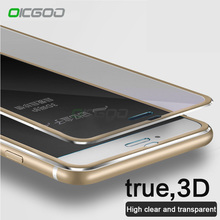 OICGOO Tempered Glass For iPhone 8 6 6S 7 Plus 5 5s SE Full Screen Protector 3D Aluminum Alloy For iPhone 6 7 8 Protective glass